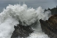 Don't try this at home .... (Cape Arago Photographer) Tags: waves seascape ocean oregon oregoncoast water eau beach
