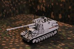 Sd.Kfz. 164 - Nashorn / Hornisse (Panzergrenadier Productions) Tags: lego ww2 tank destroyer nashorn pak panzerjaeger panzerjager sdkfz 164 hornisse 43 panzerabwehrkanone 88mm