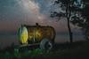 _MG_6001 (igor./) Tags: abandoned sky stars wheels post tree sea ocean night
