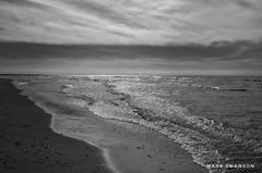 Cloud Layers (mswan777) Tags: shore coast evening lake michigan outdoor nature scenic stevensville reflection seascape horizon monochrome black ansel white nikon d5100 nikkor 1855mm