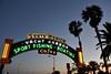 Neon & palms (wfung99_2000) Tags: ramp santamonica pier california neon sign colorado ocean avenue dusk twilight arch gateway