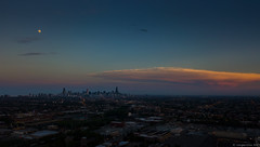 Chicago (sans Trump) (piano62) Tags: chicago skylinewithouttrump skyline panorama pastels sky moon dusk djimavicpro