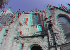 Sint-Janskerk Gouda 3D GoPro (wim hoppenbrouwers) Tags: sintjanskerk gouda 3d gopro anaglyph stereo redcyan church