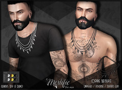 MFM - Drake Necklace AD ((Merlific Owner)) Tags: men man mje jail event second life designer creator mesh necklace stud chains male accessories