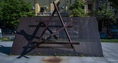 2018 - Romania - Bucharest - Holocaust Memorial - 1 of 3 (Ted's photos - Returns 23 Jun) Tags: 2018 bucharest nikon nikond750 nikonfx romania tedmcgrath tedsphotos vignetting romaniasholocaustmemorial holocaustmemorial romaniaholocaustmemorial holocaustmemorialromania holocaustmemorialbucharest bucharestholocaustmemorial bucurestiholocaustmemorial holocaustmemorialbucuresti bucuresti bucurestiromania bucharestromania memorial starofdavid sculpture eliewiesel bucharesteliewiesel eliewieselbucharest thewieselreport peterjacobi shadows shadow