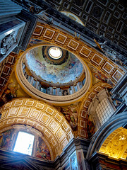 Dome of the Chapel of the Baptistery in Saint Peter's Basilica (Astro Oscar ||*||) Tags: rome astrooscar dome chapel sanpietro roma vaticano vaticancity vatican