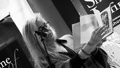 Event Horizon June 2018 012 (byronv2) Tags: eventhorizon shorelineofinfinity edinburgh edimbourg literature books poetry sciencefiction georgeivbridge frankensteins portrait june june2018 music woman elizabethdulemba art artist illustrator blackandwhite blackwhite bw monochrome author writing livre
