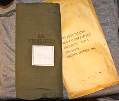 WW-2 U.S. Medical Dept. Personal Effects Bag (Pacific Kilroy) Tags: ww2 wwii us army medic patient bag storage effects personal cotton relic militaria collectible worldwarii pacifictheater patientseffects archertextiles artifact