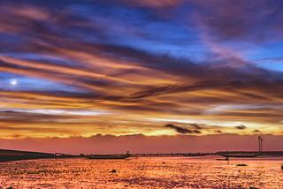 福寶濕地 夕陽