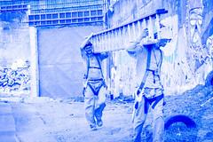 PRESÍDIO CENTRAL (Bernardo.Speck) Tags: muro workers trabalhadores escadas presídio wall prison blue azul grafite portoalegre central presídiocentral fotografia photography