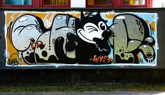 HH-Graffiti 3703 (cmdpirx) Tags: hamburg germany graffiti spray can street art hiphop reclaim your city aerosol paint colour mural piece throwup bombing painting fatcap style character chari farbe spraydose crew kru artist outline wallporn train benching panel wholecar