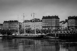 Le Belem au mouillage à Nantes