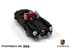 Porsche 356 Speedster (lego911) Tags: porsche 356 speedster convertible german germany boxer auto car moc model miniland lego lego911 ldd render cad povray open compact sports sportscar classic 356a 1955 1950s foitsop gmünd gmund