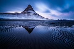 Lines in the sand (modesrodriguez) Tags: reflection kirkjufell beach sky longexposure sand blacksand iceland landscape mountain snaefellsnes