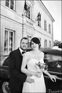 Hélène & Alexandre à la mairie.