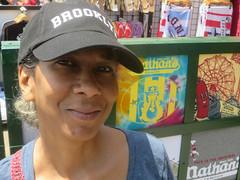 How She Got Her Nickname (edenpictures) Tags: coneyisland brooklyn newyorkcity nyc hat baseballcap janine boardwalk nathans