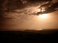Angry Sunset (Stu G2006) Tags: olympus epl1 sunset angry clouds storm beachy head birling gap belle tout south downs