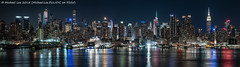 Midtown Pano (20180523-DSC07030-Pano) (Michael.Lee.Pics.NYC) Tags: newyork hudsonriver aerial night longexposure panorama weehawken newjersey midtownmanhattan timessquare esb empirestatebuilding reflection carnivalhorizon architecture cityscape skyline sony a7rm2 fe24105mmf4g