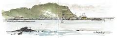 Puerto de Bilbao desde la playa de Arrigunaga (P.Barahona) Tags: ria mar puerto escolleras muelle playa veleros rocas