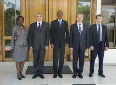 Mr. Karen Chalyan, Ambassador of Russia to Rwanda presents his credentials to President Kagame | Kigali, 2 June 2018 (Paul Kagame) Tags: kagame karen chalyan rwanda russia ambassador