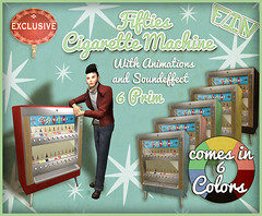 Vintage Fair Exclusive 2018 by FIN Fifties Cigarette Machine (FIN*RelivetheFifties*) Tags: fifties cigarette machine vendor nil mccallen fin vintage fair second life
