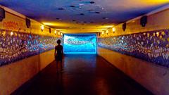 Underground / Underwater? (explored) (simone.pelatti) Tags: forlì underground passage tunnel fish orange blue