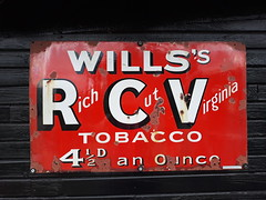Will's Tobacco sign (DorsetBelle) Tags: willstobacco willstobaccosign railwayana enamelsigns signs essex eastanglianrailwaymuseum vitreousenamelsigns advertisingsigns advertising