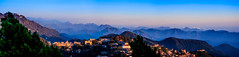 Mussoorie (Mainak Roy Camerawork) Tags: canon 600d rebel t3i top flickr hills mountain range fog clouds musooriee panorama landscape blue sunset colour natgeo nature national geographic
