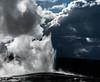 Old Faithful - Yellowstone National Park (adamthehippo) Tags: old faithful yellowstone wyoming usa sony geisir hot water explode sky clouds
