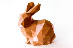Polygonaler Hase. 3D-Druck (marcoverch) Tags: 2018 germany deutschland barcamp koblenz bcko18 polygonaler hase 3ddruck box noperson keineperson disjunct disjunkt paper papier origami gift geschenk cardboard karton geometric geometrisch desktop shape gestalten art kunst one ein packaging verpackung decoration dekoration bright hell container design shining leuchtenden christmas weihnachten square platz india airport june brown outside bnw nikkor colours candy