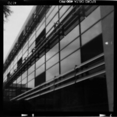 Roll01_-5_Pos_Small (tobyv_photo) Tags: agiflex agifold agipinfold pinhole pinholelens lensless camera conversion photography medium format bellows classic mono ilfordfilm ilford delta 400 home development 120 6x6 square office architecture