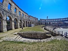 Pula: Roman Arena looking south (ARKNTINA) Tags: pula pulacroatia istria istra europe croatia hr18 eur18 random6 town building architecture arena amphitheater pulaarena romanamphitheater romanarena romanruins ruins