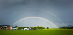 Double Rainbow (matthias schroers) Tags: rainbow regenbogen doppel airfield flugplatz gewitter regen sonne rain stuttgart swabian alb schempp samsung lightroom wetter weathet weather outdoor draussen nass hahnweide kirchheim teck