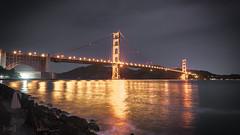 Golden Gate Bridge at Night, San Francisco, USA (KSAG Photography) Tags: sanfrancisco california usa unitedstatesofamerica america murica bridge night hdr city urban landmark skyline water sea icon monument goldengatebridge nightphotography nikon wideangle april 2017