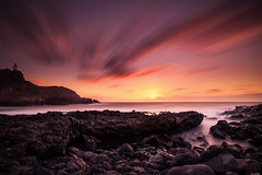 Last glow (Rico the noob) Tags: 2018 rock d850 landscape sunset 20mm water outdoor stones clouds longexposure sun beach ocean published travel dof sky coast tenerife rocks teneriffa 20mmf18 nature sea