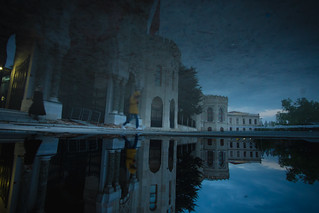 there is no photoshop just completely reflection, istanbul university.