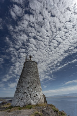 The little tower - Tŵr Bach (andyrousephotography) Tags: llanddwynisland anglesey northwales lighthouses beacons tŵrbach tŵrmawr towers stone whitewashed sunshine clouds