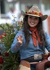 Greetings (Scott 97006) Tags: woman equestrian ride parade pretty beauty radient wave rider hat