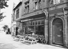 Hoylake - Wirral - Merseyside (bmaffin) Tags: ground hoylake wirral blackandwhite bw building shop street england merseyside uk