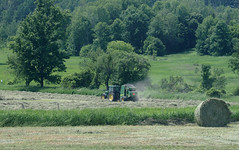 hay balin (1) (Ange 29) Tags: hay fields tractors balers olympus omd em1 35100mm zd king township canada