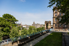 Wander with Alastair May 23rd 2018  (42 of 45) (Philip Gillespie) Tags: edinburgh scotland 2018 may summer spring canon 5dsr street people buildings architecture windows monuments castle historic old vennel cranes sky clouds sun water trees park arch court balmoral hotel lines shapes colour color green blue red yellow orange birds cats dogs duck goose heron pond lake flying swimming man woman statue horse folly path black white mono monochrome bike road angles flags bunting art artistic shade shadow