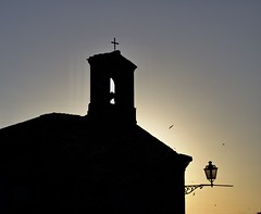 Torre di Palme at dusk (@WineAlchemy1) Tags: torredipalme marche italy swallows dusk church silhouette medievalvillage oratoriodisanrocco fermo