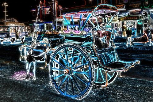 India - Karnataka - Badami - Streetlife - Horse Carriage - 12dd