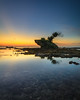 Frog stone (jenvendes) Tags: asia indonesia banten anyer pandeglang beach tree antlers nature landscape sunset twilight photography popular sea water reflection stone