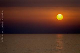 Sunrise over Adriatic Sea.