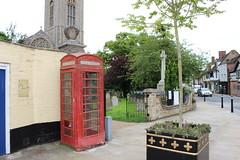 Bungay,2 (doojohn701) Tags: telephone box red trees church religion wall call buildings bungay suffolk uk