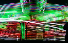 raptor light data (pbo31) Tags: sanmateocounty bayarea california nikon d810 color june 2018 boury pbo31 sanmateocountyfair sanmateo night dark black butleramusements spinninglight fair midway carnival ride lightstream motion spin motionblur red green raptor