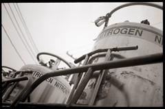 Nitrogen (efo) Tags: bw film berkeley california nitrogen truck kodak2237 diafine olympus35rc