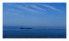 ocean blue   sky blue   tiny red (kouji fujiwara) Tags: fujifilmx100f fujifilmx100 fujifilm x100f x100 sea seascape blue ocean red seaofjapan 日本海