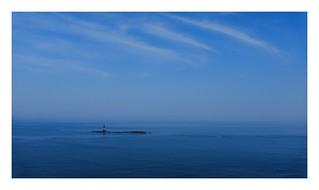 ocean blue   sky blue   tiny red